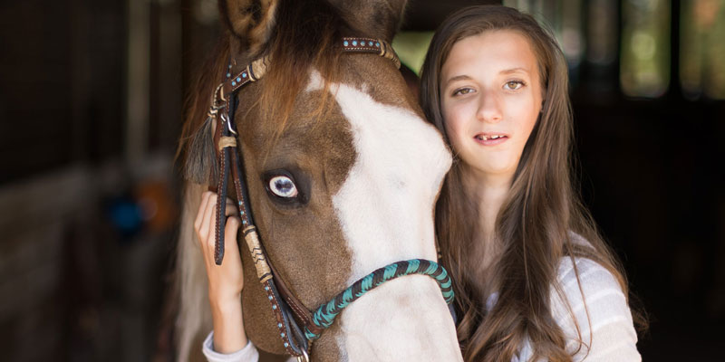 Elle with her horse