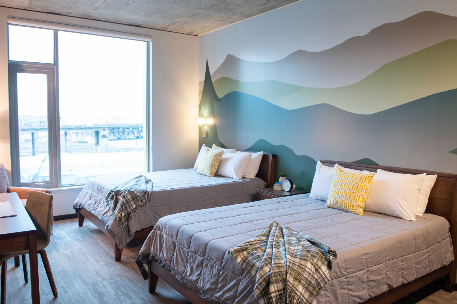 A bedroom in the Gary & Christine Rood Family Pavilion