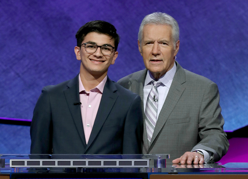 Avi Gupta, a 2019 Jeopardy Teen Tournament contestant from Portland will donate $314 to the Knight Cancer Institute's pancreatic cancer research efforts in honor of Alex Trebek. (Jeopardy Productions Inc.)