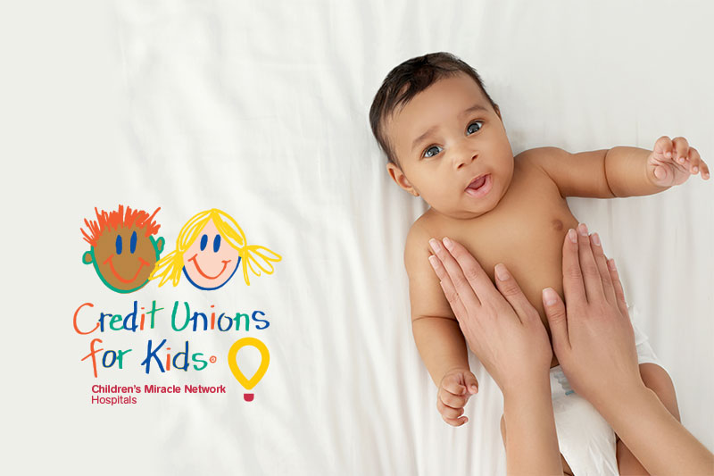 Credit Unions for Kids logo with baby