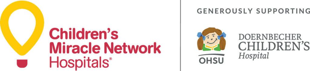 Children's Miracle Network Hospitals and Doernbecher Children's Hospital logo lockup