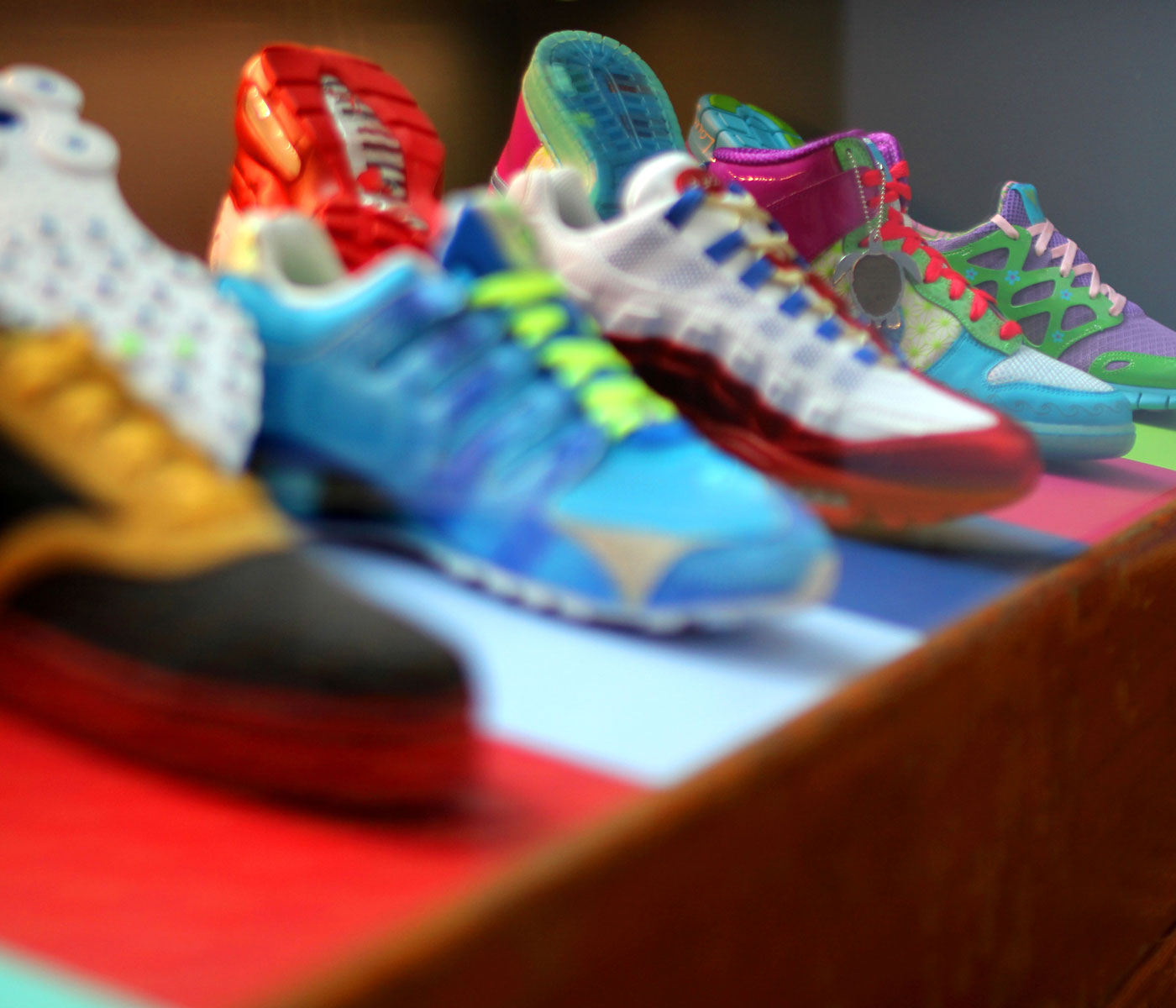 A lineup of Freestyle shoes from a past collection